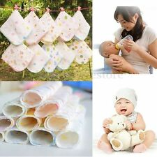 10X 30*30cm Baby Infants Cotton Gauze Nursing Feeding Bibs Washcloths Wipe Towel