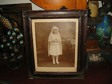 Antique Victorian Photograph Of Young Girl At Communion-Roselle Park NJ-Italian