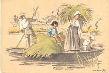 Carte Postale Ancienne Régionale  Les Maraîchins en Yole  Bonnefoy