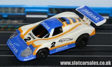 Tomy afx turbo silk cut lemans jaguar with working lights ho slot car