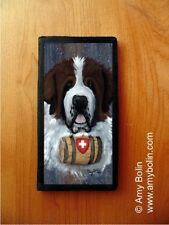SAINT BERNARD SAINT ST. DOG CHECKBOOK COVER by Amy Bolin WINTER RESCUE