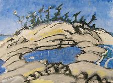 "ORIGINAL  ACRYLIC ART ACEO PAINTING BY LJH  ""PINE ISLAND"" A231"