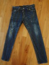 Dsquared2 High Rise Cool Guy Used Effect Slim Fit Jeans Blue EU 52 US 36 NWT