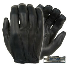 Damascus D20P Dyna Thin Unlined Black Leather Police Search Gloves - Large