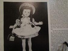6pg Effanbee's HONEY Doll History Magazine ARticle HONEY FAMILY / G. Mandeville