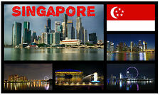 SINGAPORE - SOUVENIR NOVELTY FRIDGE MAGNET - BRAND NEW - GIFT