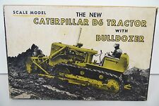 VINTAGE 1963 ERTL CATERPILLAR CAT D6 TRACTOR WITH BULLDOZER ORIGINAL BOX INSERT