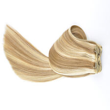 """20""""-22"""" Thick to Ends Remy Human Hair Clip in Extensions Black Brown Blonde Red"""