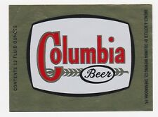 Columbia Beer Label