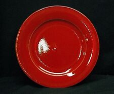 """Vintage Pier 1 Imports Earthenware Red 10-3/4"""" Dinner Plate Pottery Dinnerware"""