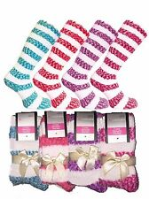 Women's 'Lady Lara' 4 Pair Pack Cosy Fluffy Slouch Socks in 4 Assorted Colours