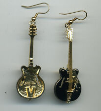Gretsch Black Falcon Electric Guitar Earring Pair Limited Enamel & Gold Plated