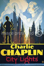 City Lights Vintage Charlie Chaplin Movie Poster (2) 18x24