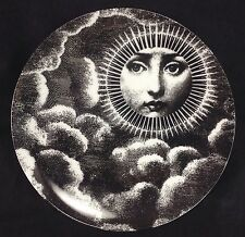 "Fornasetti Replica 8"" Plate Reproduction Lina Art Nouveau Woman Sun Clouds Sky"