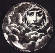 "Fornasetti Replica 8"" Plate Reproduction Lina Art Nouveau Woman Sun Clouds Sky"