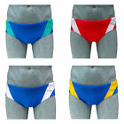 ACCLAIM Sydney Brief Trunks Red White Mens Tie Cord 20% Lycra Swimming Sport