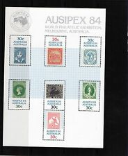 1984 Ausipex 84 Exhibition Mini Sheet Mint Never Hinged, Clean