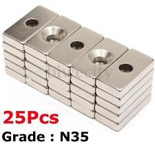 25 Neodymium Magnets Rare Earth NdFeB N35 Disk Ring Super Strong Craft 20x10x4mm