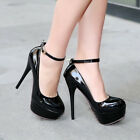 Womens High Heel Stiletto Platform Ankle Strap Wedding Pump Shoes Dress New Shoe