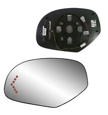 LH Heat Mirror GLASS W/LED Signal & Back FOR 2007-2013 Suburban 1500 2500 3500