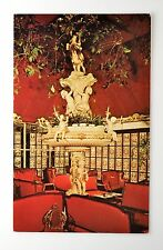 KAPOK TREE INN RED LOUNGE VINTAGE POSTCARD ~ CLEARWATER FLORIDA 1977 ~