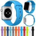 For Apple Watch 38mm Silicone Wrist Bracelet Sport Band Strap Replacement-Blue