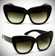 Oversized Cat Eye Sunglasses Retro Women Eyewear Vintage Fashion Chelsea