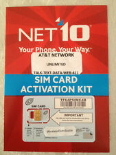 5 X NET10 CUT TO MICRO SIM CARD UNLIMITED AT&T $35 MO iPhone 4 / 4S / Galaxy S