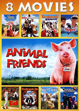 Animal Friends 8 Movies Babe, Ed, Evan Almighty, Flipper (DVD, 2-Disc Set)  NEW