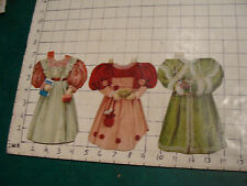 3 early doll clothes, all with damage, but VERY EARLY, use the zoom in feature