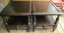 Pair Hammary Wood End Tables
