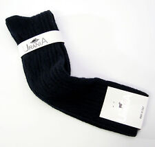 Urania Italy Ladies Knee Socks Merino Wool Cashmere Blend Cable Weave Black NEW