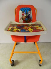VINTAGE RONALD McDONALD'S HIGHCHAIR ON WHEELS WITH TRAY & McDONALD CHARACTERS