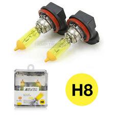 NOKYA Hyper Yellow Halogen Bulb Headlight Lamp 2500K 12V 35W H8 for All Vehicle