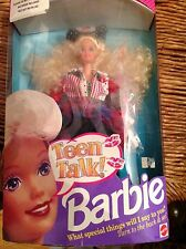 NRFB NEW 1991 TEEN TALK! BARBIE DOLL w/ Assessories  MATTEL Blonde