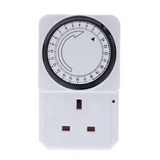 24 HOUR Mains Timer with LED For Lamps Lights Plug In