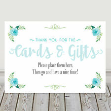 Blue Wedding Cards and Gifts Post Box Wedding Sack Table Sign 3 FOR 2 (LB4)