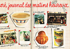 PUBLICITE ADVERTISING 064  1982  RICORE   petit déjeuner  ( 2 pages)