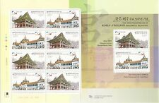 Korea - SC 2285 Royal Palace (Joint issued Thailand) sheet 2008