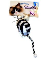 NORTH AMERICAN PET CLASSY KITTY ZEBRA MOUSE CAT TOY FREE SHIP TO THE USA