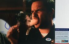 GREAT MOVIE!!! Jake Johnson FUNNY Signed LETS BE COPS 8x10 Photo #2 PSA/DNA