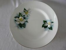 CLIFTON BONE CHINA ENGLAND SET OF 3 DIFFERENT FLOWER BREAD PLATES