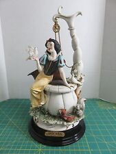 VTG Signed G.ARMANI Disney Snow White at the Well LE 199C Figurine Sculpture