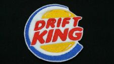 Drift King JDM Embroidered Patch Badge Iron on or Sew.