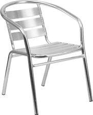 Heavy Duty Slat Back Indoor or Outdoor Aluminum Restaurant Chair