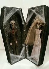 Black Velvet Coffin Box Skeleton Wedding Couple Halloween