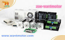 [EU FREE]wantai CNC Kit 4Axis Nema23 Motor 425oz-in dual shaft&Driver 4.2A&Power