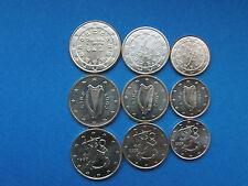 1+2+5 cent Münzen aus Portugal Irland Finnland