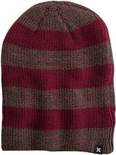 NEW MENS HURLEY twin finner BEANIE HAT MULTI COLORED ONE SIZE RED