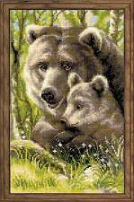 "Counted Cross Stitch Kit RIOLIS - ""Bear with Cub"""